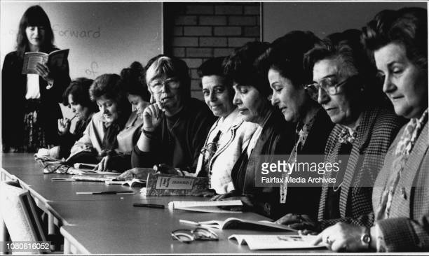 International Literacy Day The Adult Literacy class at Randwick TAFE where the class of Migrant women varied from primary to high school...