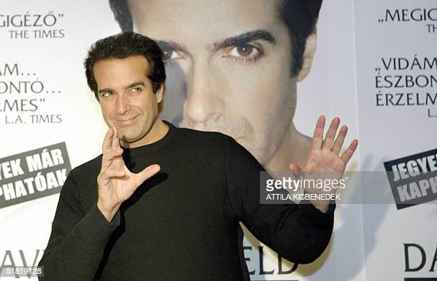 International magican David Copperfield poses for photographers 03 December 2004 prior to his press conference in Budapest Copperfield will perform...