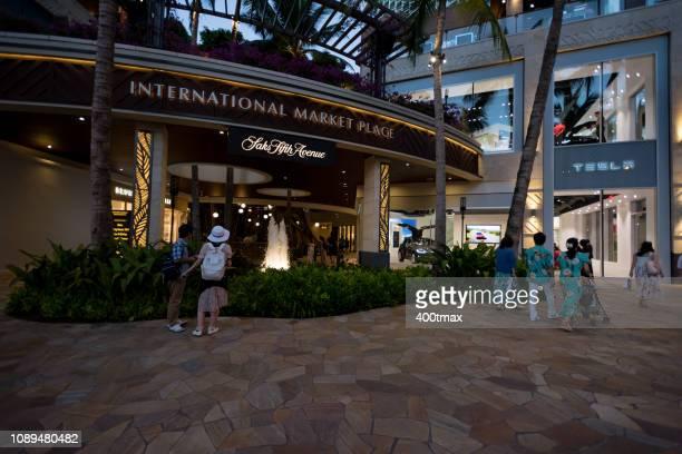 international market place - waikiki stock pictures, royalty-free photos & images