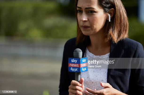 International media gathers outside the Lebanon Tribunal on August 18 2020 in The Hague Netherlands The Special Tribunal for Lebanon must render its...