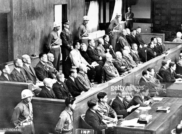 International Military Tribunal in Tokyo, Japan in May 1946. Since the beginning of 1946, a war crimes trial against 26 Japanese politicians and...
