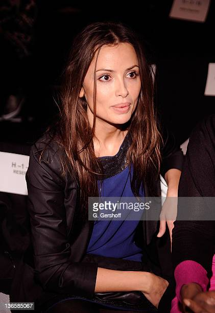 International model Almudena Fernandez attends the Custo Barcelona Fall 2010 during MercedesBenz Fashion Week at Bryant Park on February 14 2010 in...