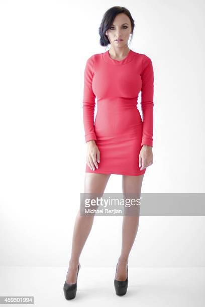 International Model Iryna Ivanova poses at Iryna Ivanova Portraits At The Starving Artists Project on November 20 2014 in Los Angeles California