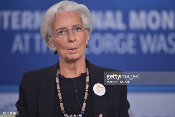 International Monetary Fund Managing Director Christine Lagarde speaks during a discussion on ethics and finance at the 2014 IMF World Bank Annual...
