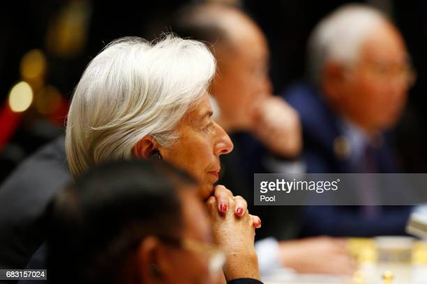 International Monetary Fund Managing Director Christine Lagarde attends a summit at the Belt and Road Forum on May 15 2017 in Beijing China The Belt...