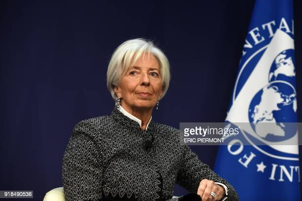 International Monetary Fund Managing Director Christine Lagarde attends a conference themed 'Transforming the French economy and deepening its...