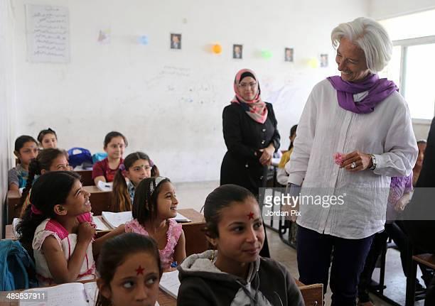 24 Christine Lagarde Visits Al Zaatari Refugee Camp In Jordan
