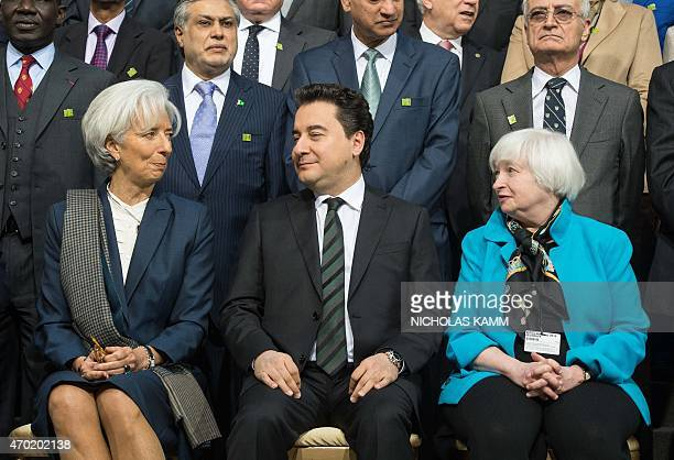 International Monetary Fund Managing Director Christine Lagarde Turkish Deputy Prime Minister Ali Babacan and US Federal Reserve chair Janet Yellen...