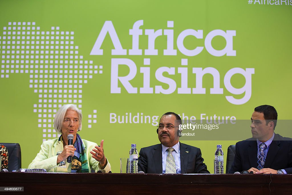 IMF Director Christine Lagarde Visits Mozambique For Africa Rising Conference : News Photo