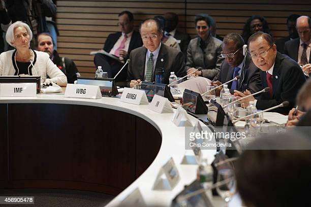 International Monetary Fund Managing Director Christine Lagarde World Bank Group President Jim Yong Kim Guinea President Alpha Conde and United...