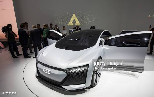 International Motor Show 2017 in Frankfurt AUDI Aicon futuristic study for autonomous limousines with electric drive