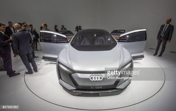 International Motor Show 2017 in Frankfurt AUDI Aicon futuristic study for autonomous limousines with electric drive