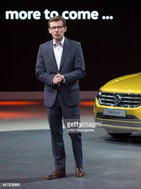 International Motor Show 2017 in Frankfurt Dr Frank Welsch Member of the Board of Volkswagen AG and responsible for development during the VW press...