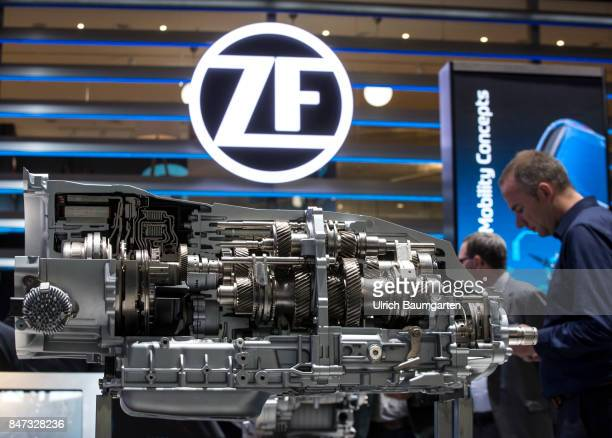 International Motor Show 2017 in Frankfurt Symbol photo environment ZF Friedrichshafen automotive supplier 8Gang PluginHybrid dual clutch...