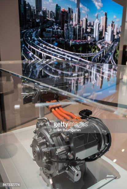 International Motor Show 2017 in Frankfurt Symbol photo environment electricmobility etc The photo shows an electric engine from ValeoSiemens