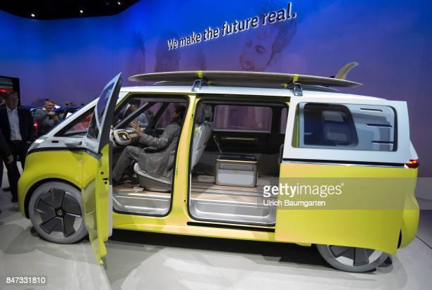 International Motor Show 2017 in Frankfurt The electricallypropelled Volkswagen BUZZ successor to the legendary Volkswagen BULLI