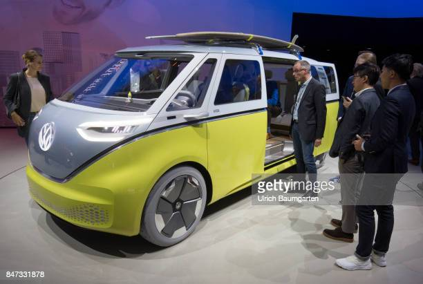 International Motor Show 2017 in Frankfurt The electricallypropelled Volkswagen BUZZ successor to the legendary Volkswagen BULLI