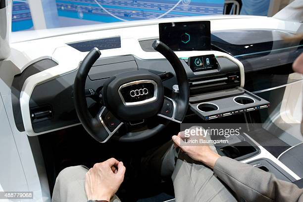 International Motor Show in Frankfurt The cockpit of the future AUDI simulation of a selfpropelled car