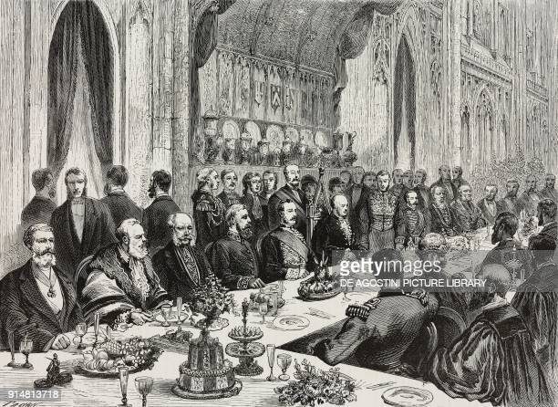 International Municipal Banquet given by the Mayor in the Guildhall of London on June 30 United Kingdom illustration from the magazine...