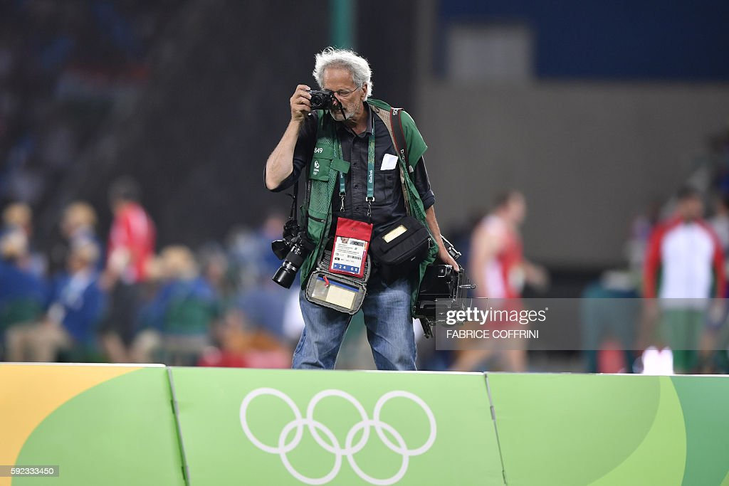 ATHLETICS-OLY-2016-RIO-MEDIA-PHOTOGRAPHER : News Photo