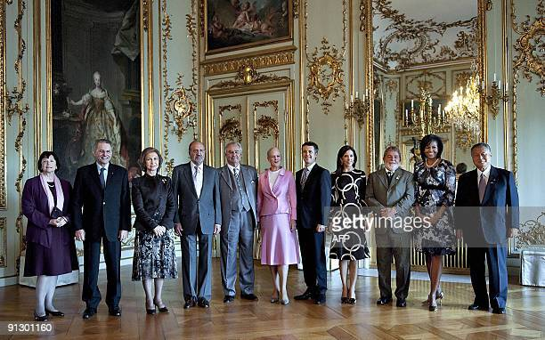 International Olympic Committee President Jacques Rogge and his wife Anne Spanish Queen Sofia Spanish king Juan Carlos Danish Prince Henrik Danish...