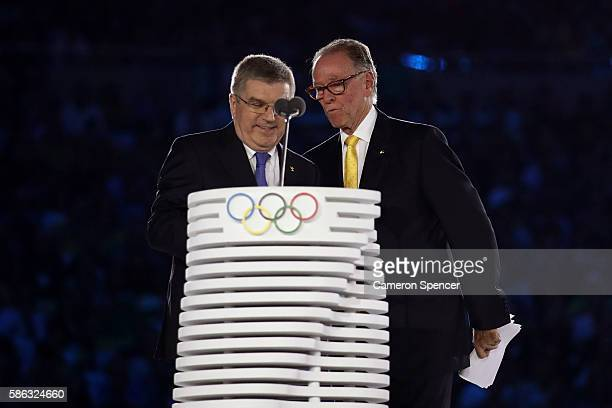 International Olympic Committee President Thomas Bach and President of the Organizing Committee of the Rio 2016 Olympic and Paralympic Games Carlos...