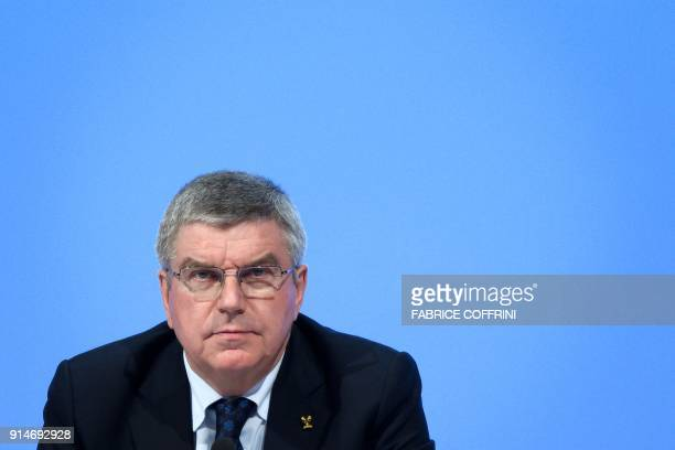 TOPSHOT International Olympic Committee President Thomas Bach attends an IOC session ahead of the Pyeongchang 2018 Winter Olympic Games on February 6...