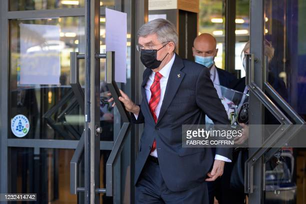 International Olympic Committee president Thomas Bach leaves the UEFA Congress in Montreux on April 20 after twelve major clubs launched plans for a...