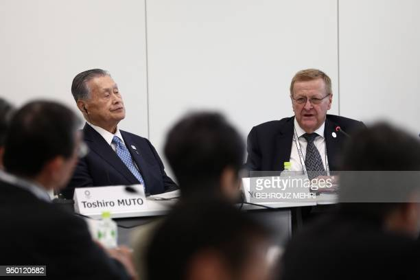 International Olympic Committee vice president and chairman of the Coordination Commission for Tokyo 2020 John Coates and Tokyo 2020 president...
