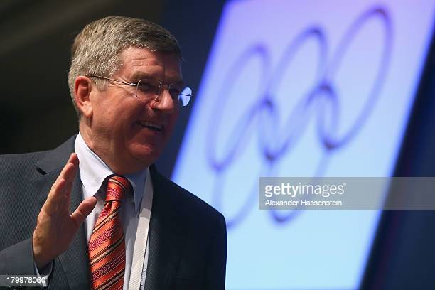 International Olympic Committee Vice President and presidency candidate Thomas Bach looks on prior to the 125th IOC Session 2020 Olympics Host City...