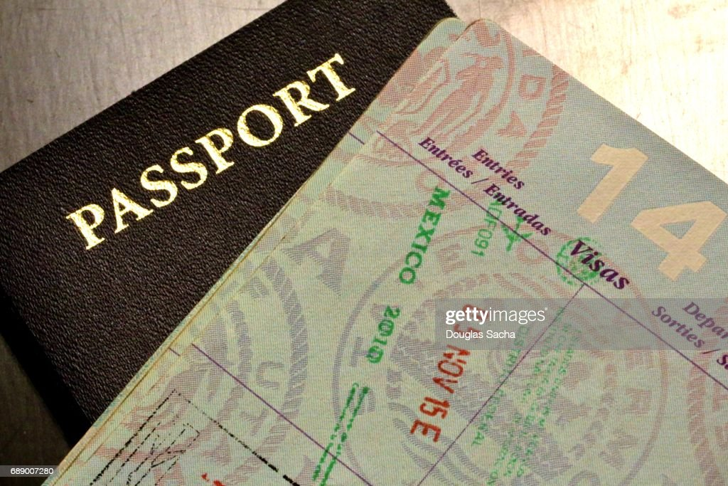 International Passport documents : Stock Photo