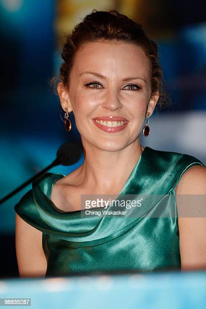 International Pop star Kylie Minogue attends the press conference of bollywood movie Blue held at Hotel Renaissance on March 06 2009 in Bombay India