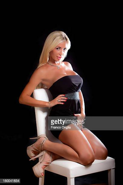 International pornostar Evita Pozzi poses on July 2 2011 in Rome Italy