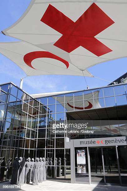 international red cross and red crescent museum. cicr. geneva. switzerland. - philanthropist stock pictures, royalty-free photos & images