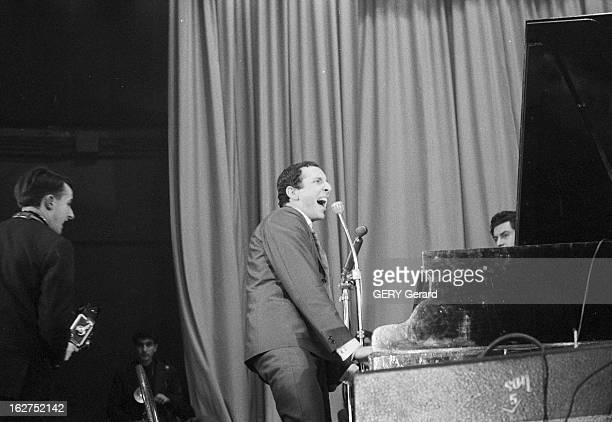International Rock'N'Roll Festival At The Palais Des Sports De Paris En fevrier 1961 à Paris à l'occasion d'un festival de Rock'n'roll au palais des...