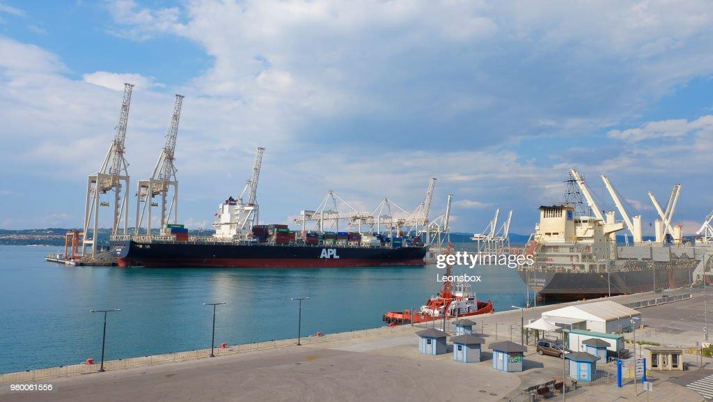 International seaport of Koper - Slovenia : Stock Photo