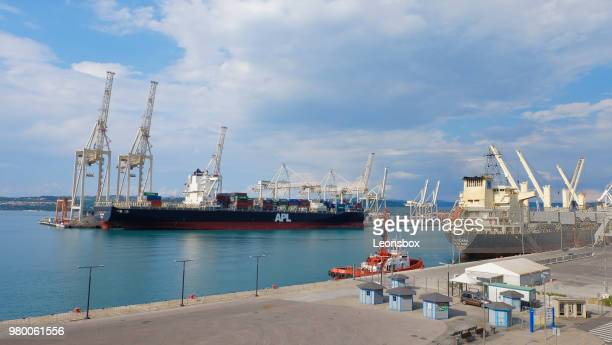 international seaport of koper - slovenia - koper stock photos and pictures