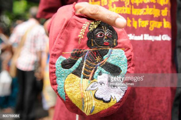 International Society for Krishna Consciousness celebrates 46th Jagannath Rath Yatra on June 25 2017 in Kolkata India More than 5000 devotees were...