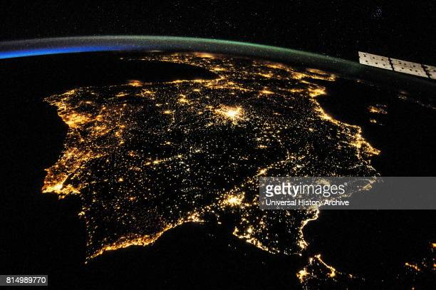 International Space Station astronaut recorded an early evening photograph of the Iberian Peninsula on July 26 2014 The Strait of Gibraltar is...