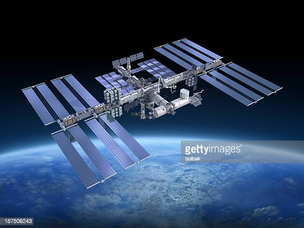 international space station iss - international space station stock pictures, royalty-free photos & images