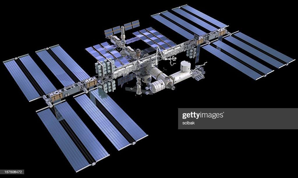 ISS International Space Station : Stock Photo