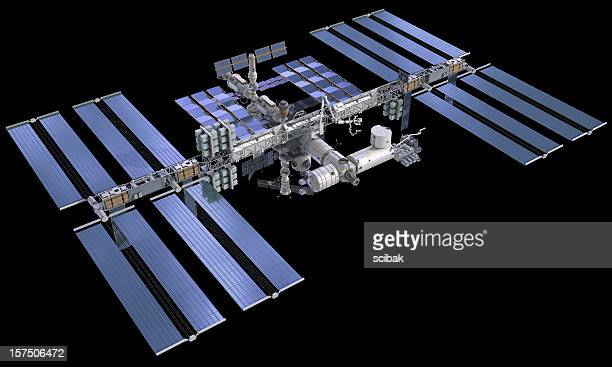 iss international space station - international space station stock pictures, royalty-free photos & images