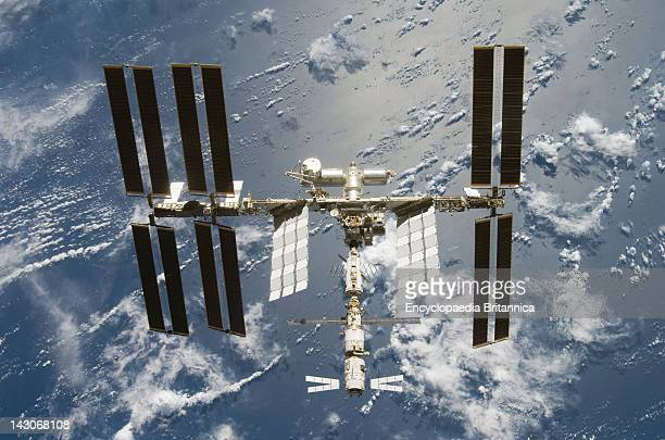 International Space Station, The Automated Transfer Vehicle Jules Verne, As Seen At The Bottom Of The International Space Station.