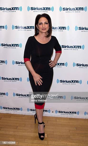 International Star Gloria Estefan Visits SiriusXM For SiriusXM's Town Hall With Gloria Estefan Moderated By Perez Hiltonon September 9 2013 in New...