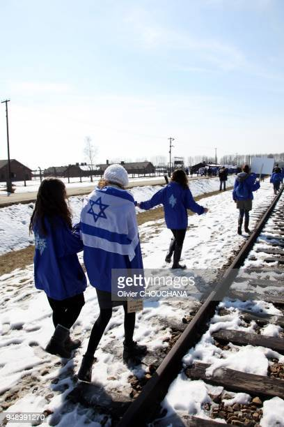 International students participate to the annual March of the Living to pay tribute to the victims who were killed at AuschwitzBirkenau extermination...