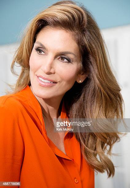 International supermodel Cindy Crawford is photographed for Los Angeles Times on August 27 2015 in Los Angeles California PUBLISHED IMAGE CREDIT MUST...