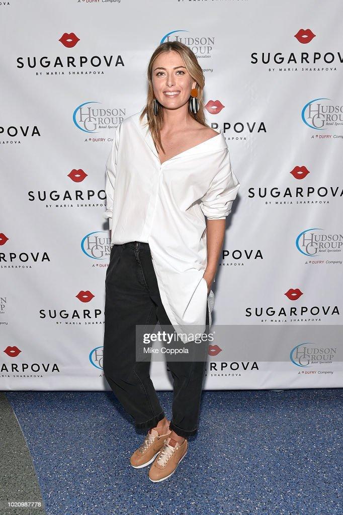Maria Sharapova & Sugarpova Make Appearance At Grand Central Station Hudson News