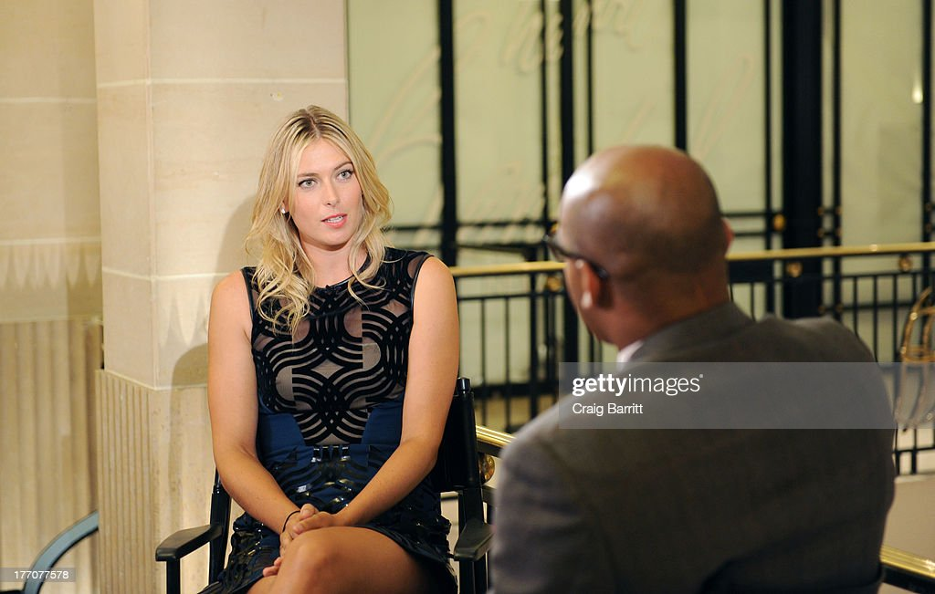 International tennis sensation Maria Sharapova celebrates the one year anniversary of Sugarpova by launching 'Sugarpova Accessory Collection' exclusively at Henri Bendel on August 20, 2013 in New York City.