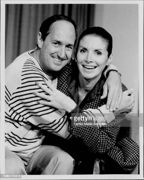 International Terminal Sydney AirportSinger Neil Sedaka and wife Leaba in Aust to celebrate MLC Ltd birthday May 22 1986