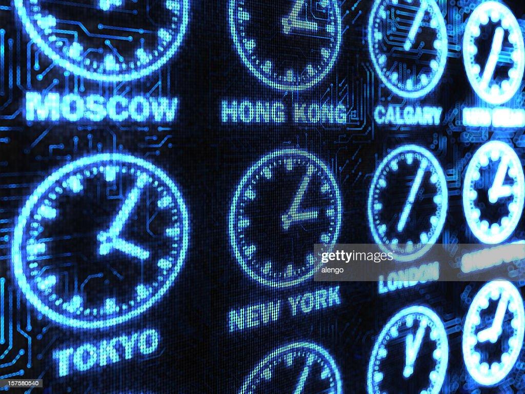 International Time background : Stock Photo